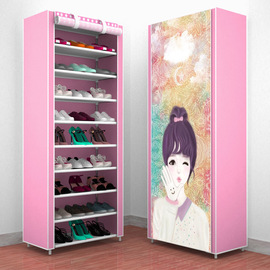Dormitory shoes household economical dormitory shoe cabinets multi-layer simple dustproof and multifunctional space assembly saves storage