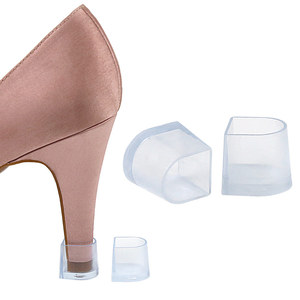 5pairs Latin heel cover Betty dance shoes heel cover heel protective cover wear-resistant heightening transparent