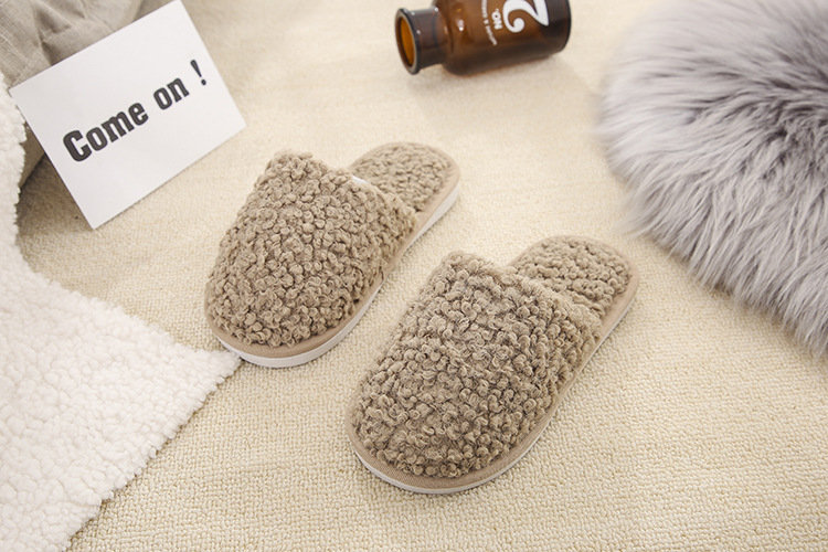 lamb hair warm indoor cotton slippers NSPE10028