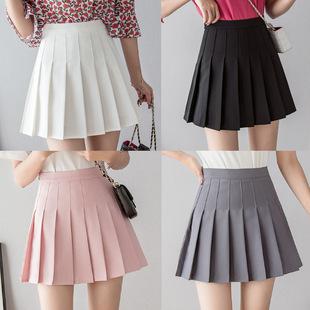 Плиссированная юбка юбка лето талия тонкий студент краткое модель дикий сетка юбка женщина весна a слово для предотвращения задирается. юбка
