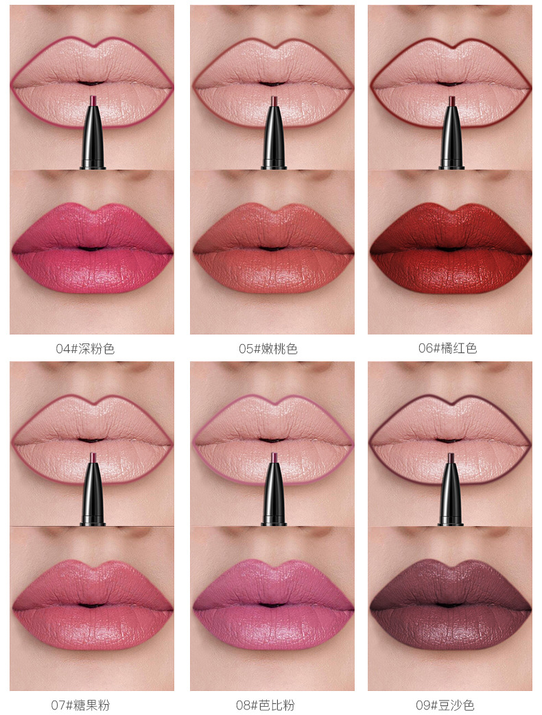 Non-Stick Cup Two-in-one Double Lip Pencil