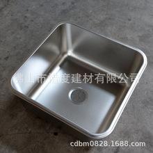 酒店廚房用201不銹鋼水斗正方形水槽單槽加深55*55*28定做S5555