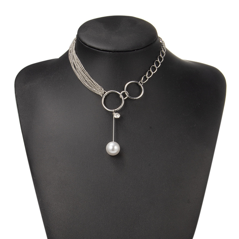 Womens beads plating alloy Necklaces NHGY129409