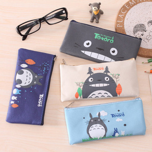 Korean stationery flying over London Oxford zipper bag cartoon pencil case stationery box student supplies wholesale