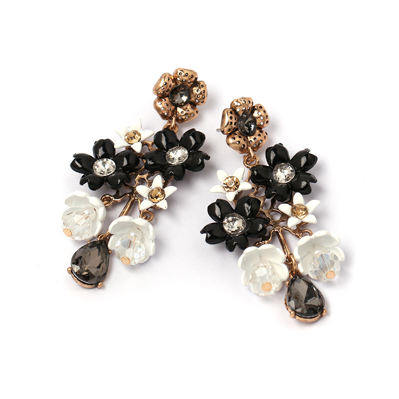Alloy Fashion Flowers earring(red)Fashion Jewelry NHJJ5580-red