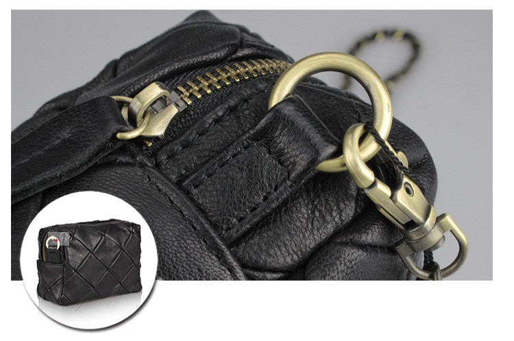 Gold Chain Black Handbag