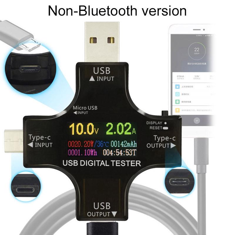 炬为 彩屏测试仪USB电压电流表Type-C PD测试仪 功率计蓝牙通信版