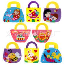 儿童手工diy新款包包布艺卡通手提包幼儿园教师节创意制作材料包