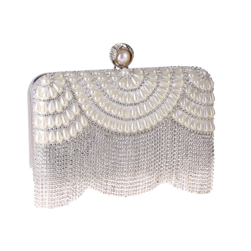 Dinner bag tassel diamond bag Europe and America clutch bag dress bag NHYG174752