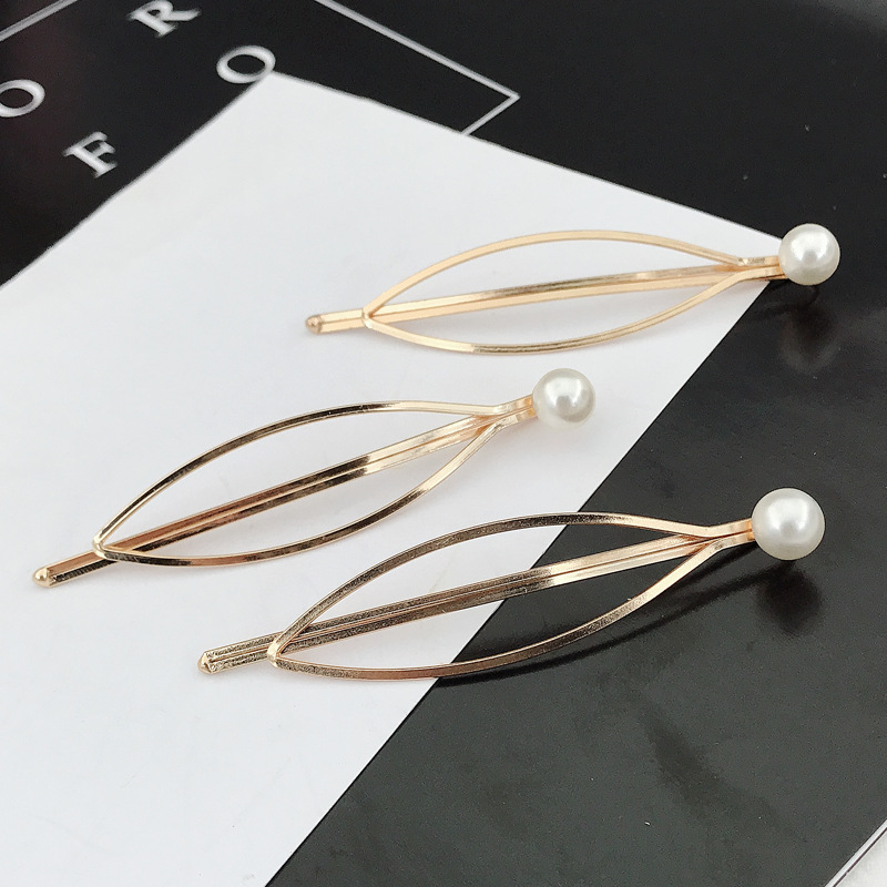 South Korea simple wild girl pearl jewelry women top clip cheap side clip wholesale NHDQ205911