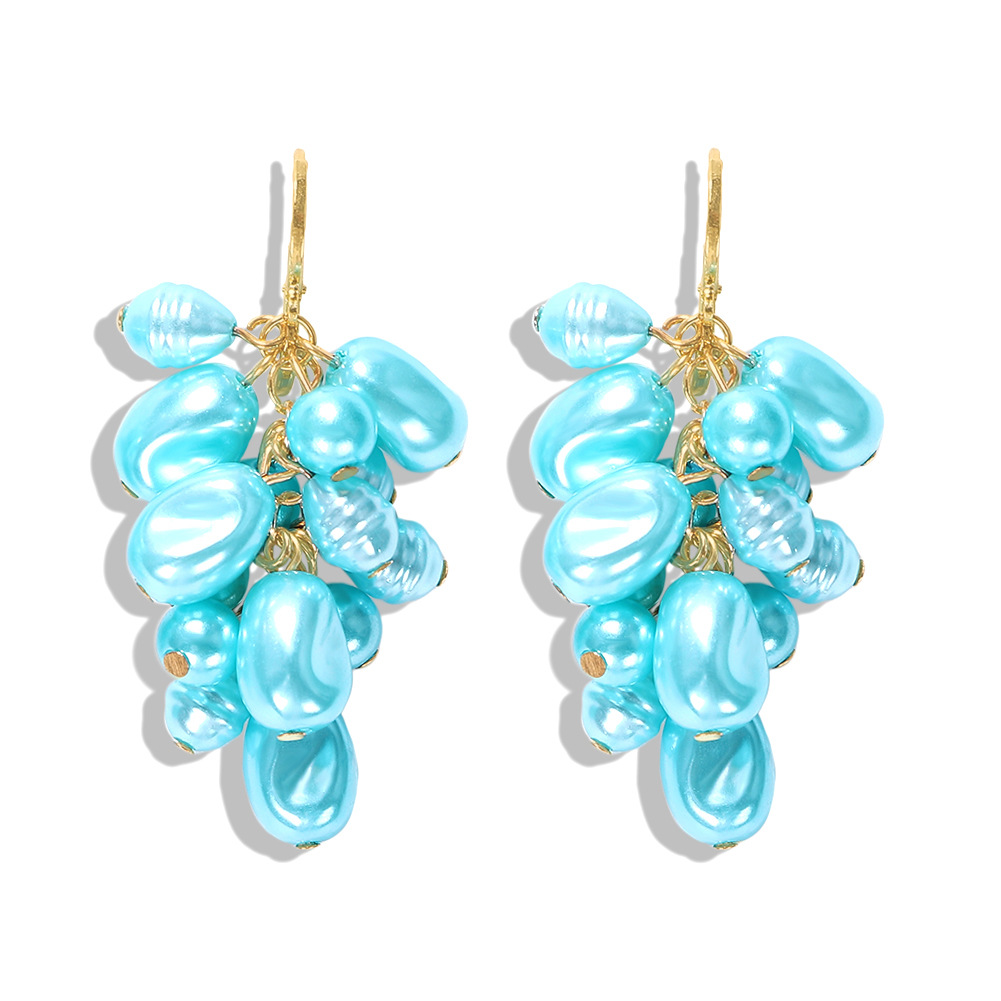 Fashion Candy Color Pearl Pendant Earrings NHJQ149036