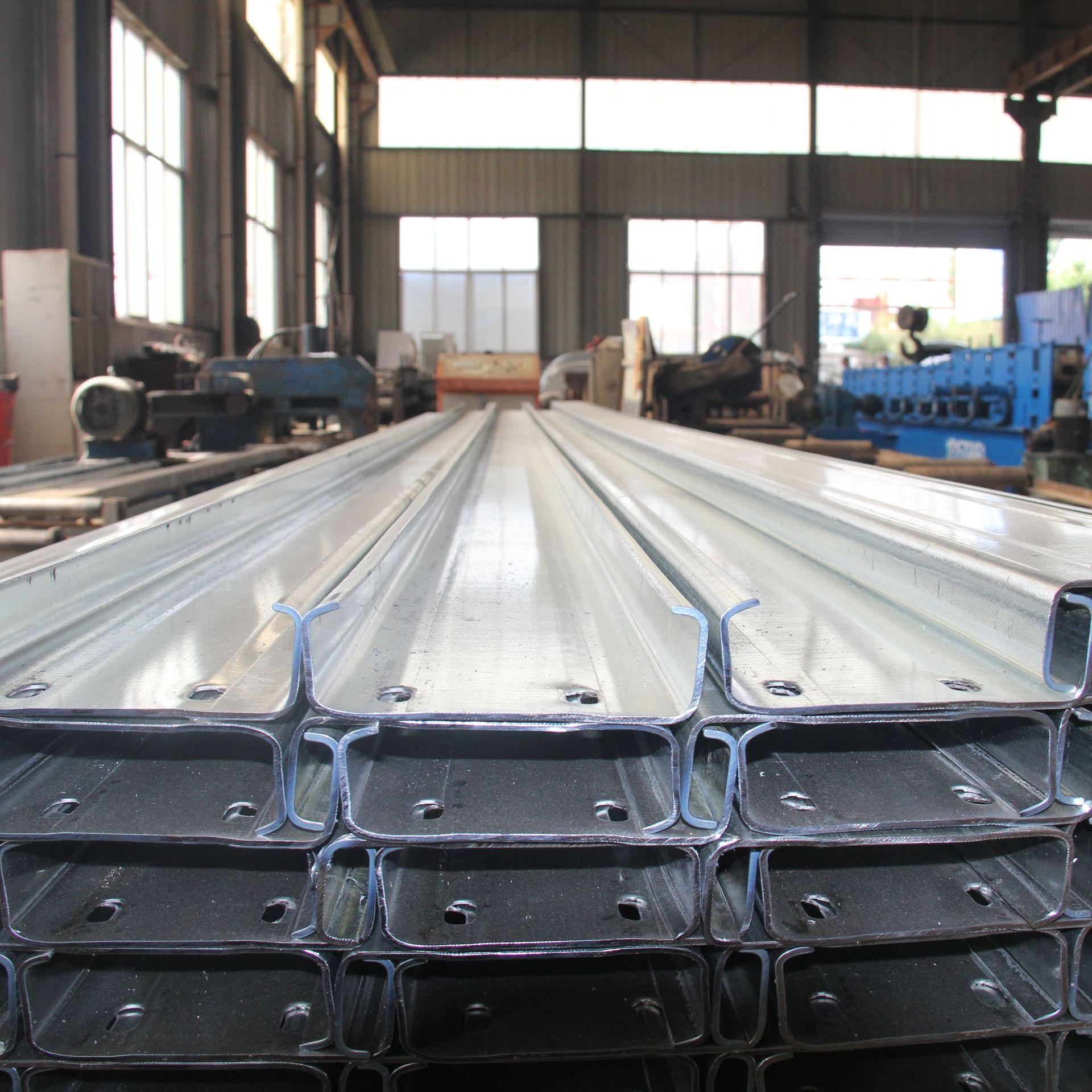 山东泰安 C型钢 镀锌C型钢 免费打孔 异型钢加工 楼承板 特尺定做
