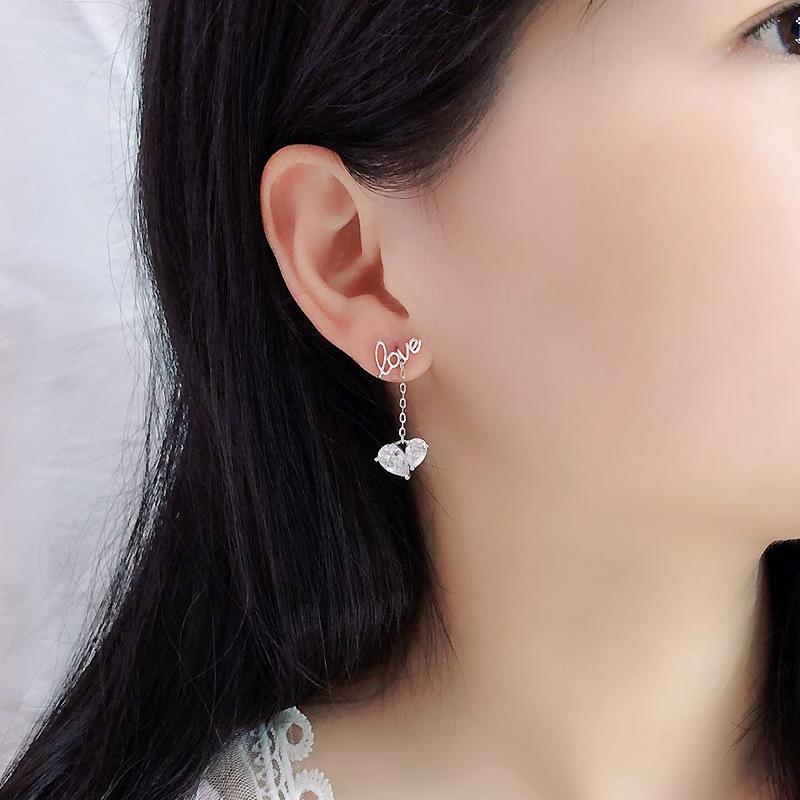 Womens Geometric Zircon Copper Earrings NHDO158541