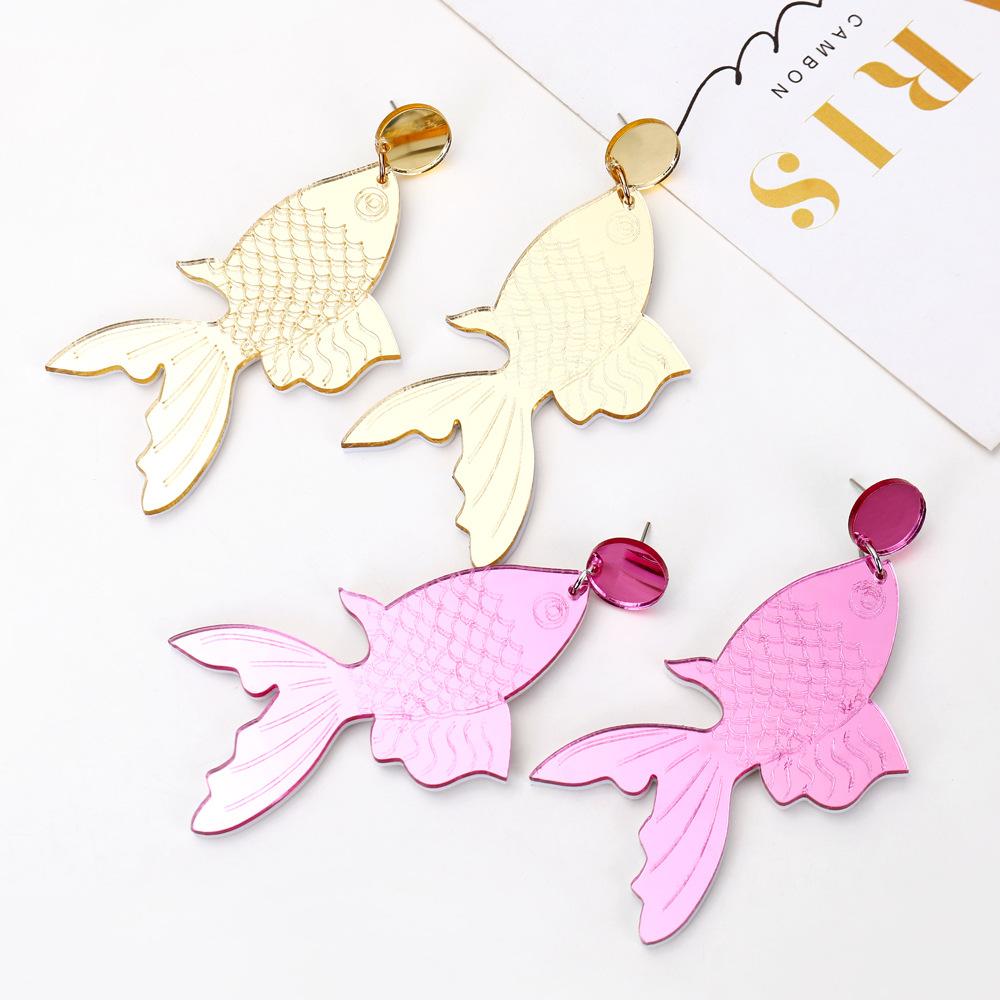 Aretes creativos hechos a mano personalidad creativa joyas retro goldfish pendientes koi mujer NHXI176900