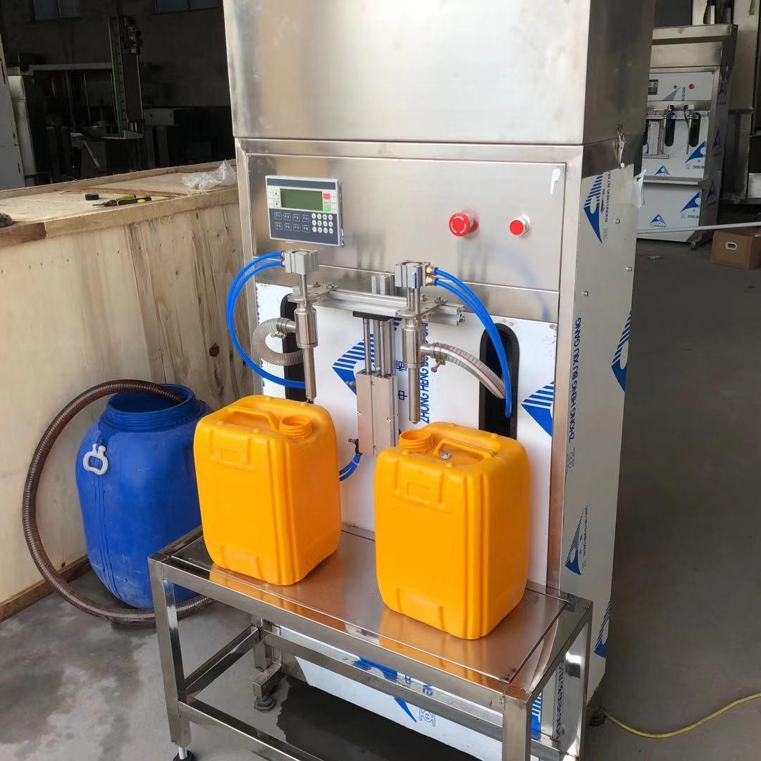 厂家直销小型玻璃水防冻液尿素灌装机半自动定量液体灌装机生产线