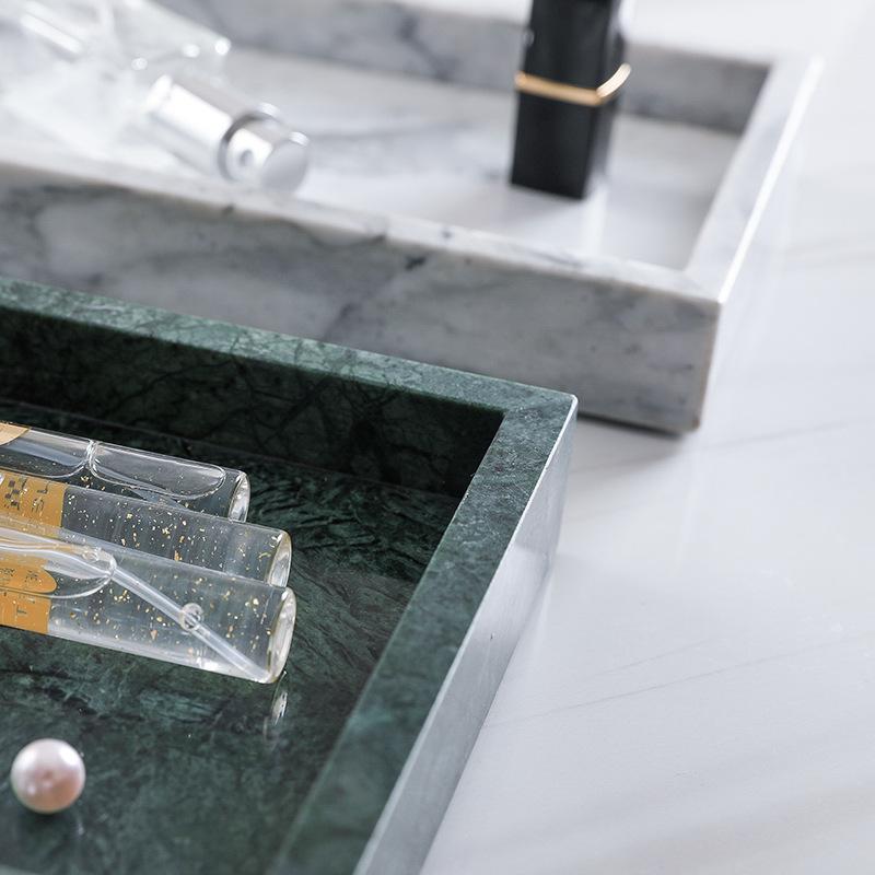 厂家直销北欧ins大理石托盘首饰浴室收纳盘卫浴托盘可定制
