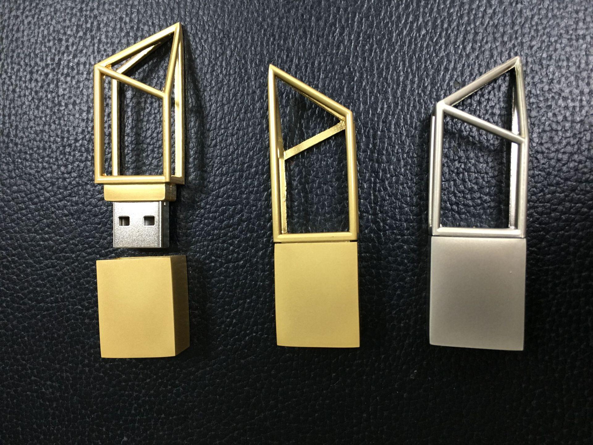 厂家直销 金属镂空U盘 创意礼品U盘 可定制LOGO 可开模定制U盘