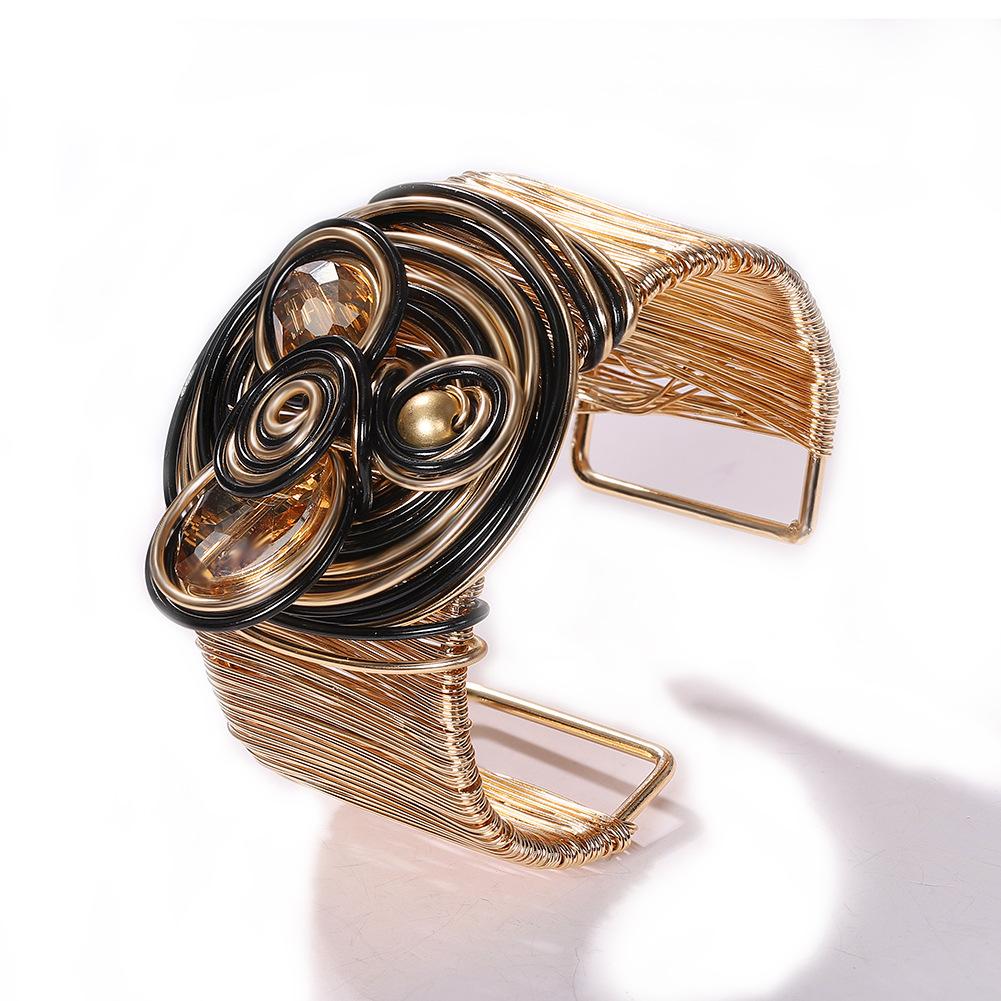 Alloy Gem Bracelet Creative Jewelry Accessories Retro Open Bangle Jewelry Wholesale NHJQ190718