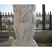 厂家供应大理石西洋人物雕刻欧式美女石雕园林别墅室外景观装饰