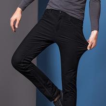 专柜男装莫代尔休闲裤 秋冬季中年男士韩版休闲修身灯芯绒长裤子