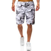 跨境專供MDk03男式沙灘褲 速干海邊休閑迷彩印花短褲沖浪褲一件發