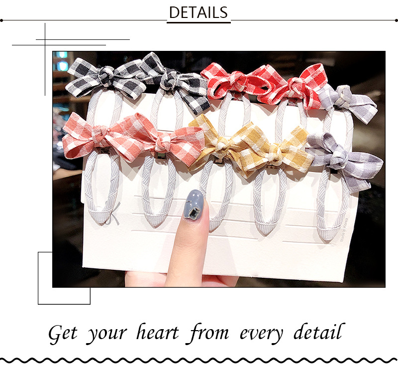 Korean children's bow hairpin sweet girl side clip girl baby side clip hair accessories wholesale nihaojewelry NHNA230057