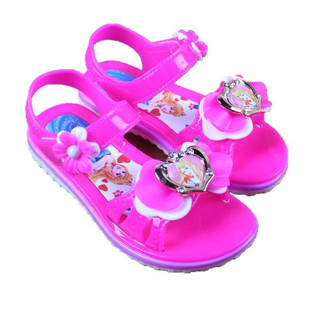 2019 dép nữ mới mùa hè giày đế mềm đế mềm Hàn Quốc dép trẻ em nữ lớn trẻ em giày đế bằng Dép trẻ em