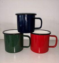 搪瓷杯定制外贸不锈钢边搪瓷杯创意礼品水杯搪瓷水杯搪瓷缸厂家