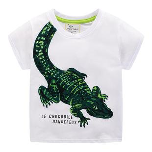 Cheap Kids' Clothes 2020 New Products Children's T-shirt European and American Boys' T-shirt Cartoon Cool Short Sleeve