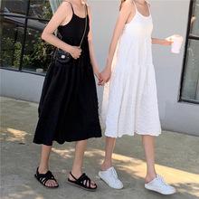一件代發~復古冷淡風吊帶裙女連衣裙森女裙子