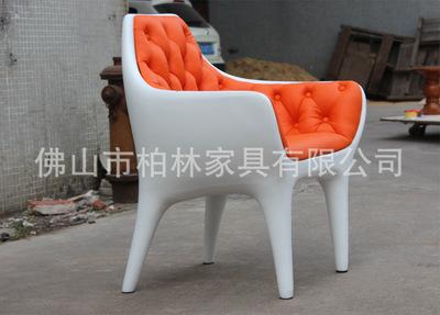 欧式古典玻璃钢休闲躺椅 玻璃钢酒店椅