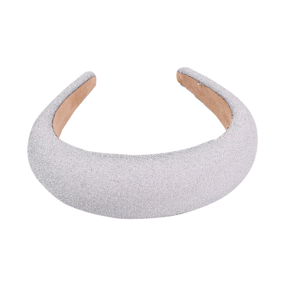 Pure Thick Thick Sponge Headband Gold Wire Wide Edge NHMD184978