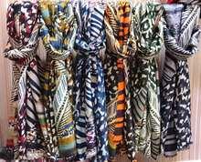 跨境热销大丝巾女 欧美时尚豹纹豹点防晒披肩 斑马纹雪纺丝巾围巾