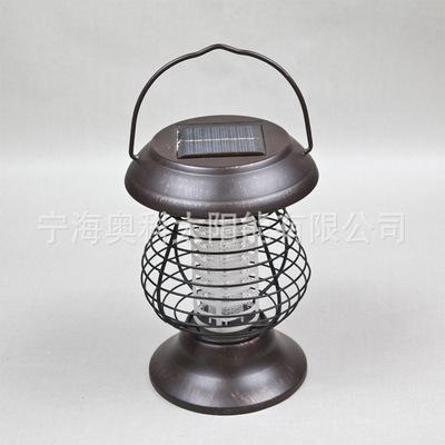 太阳能灭蚊灯 家用热销手提式AK-5006A太阳能灭蚊灯(大号不锈钢)