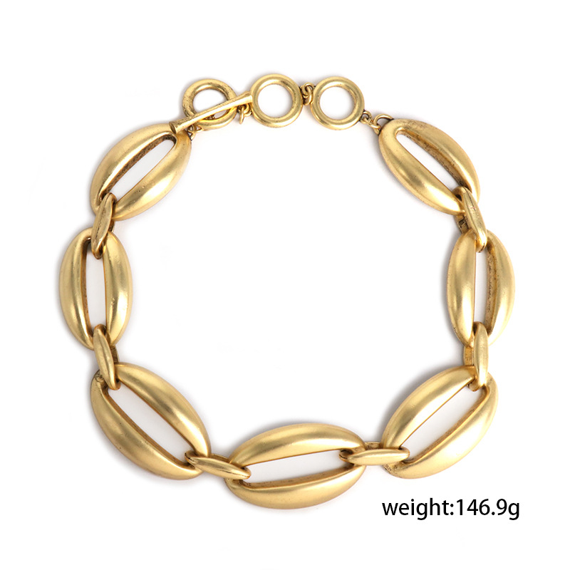 Exaggerated personality heavy industry clavicle chain simple chain necklace wholesale NHJJ190955