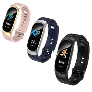 QW16 new smart bracelet color screen real-time heart rate sleep monitoring sports waterproof step counter information reminder bracelet
