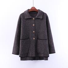 2019春秋女裝韓版小格子黑灰色連帽短款外套女裝開衫上衣長袖