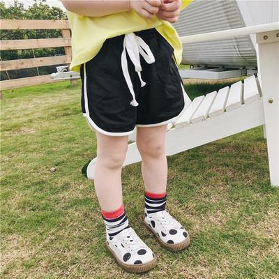 左左王子童装2019夏季新款韩版男女童全棉针织短裤儿童运动短裤