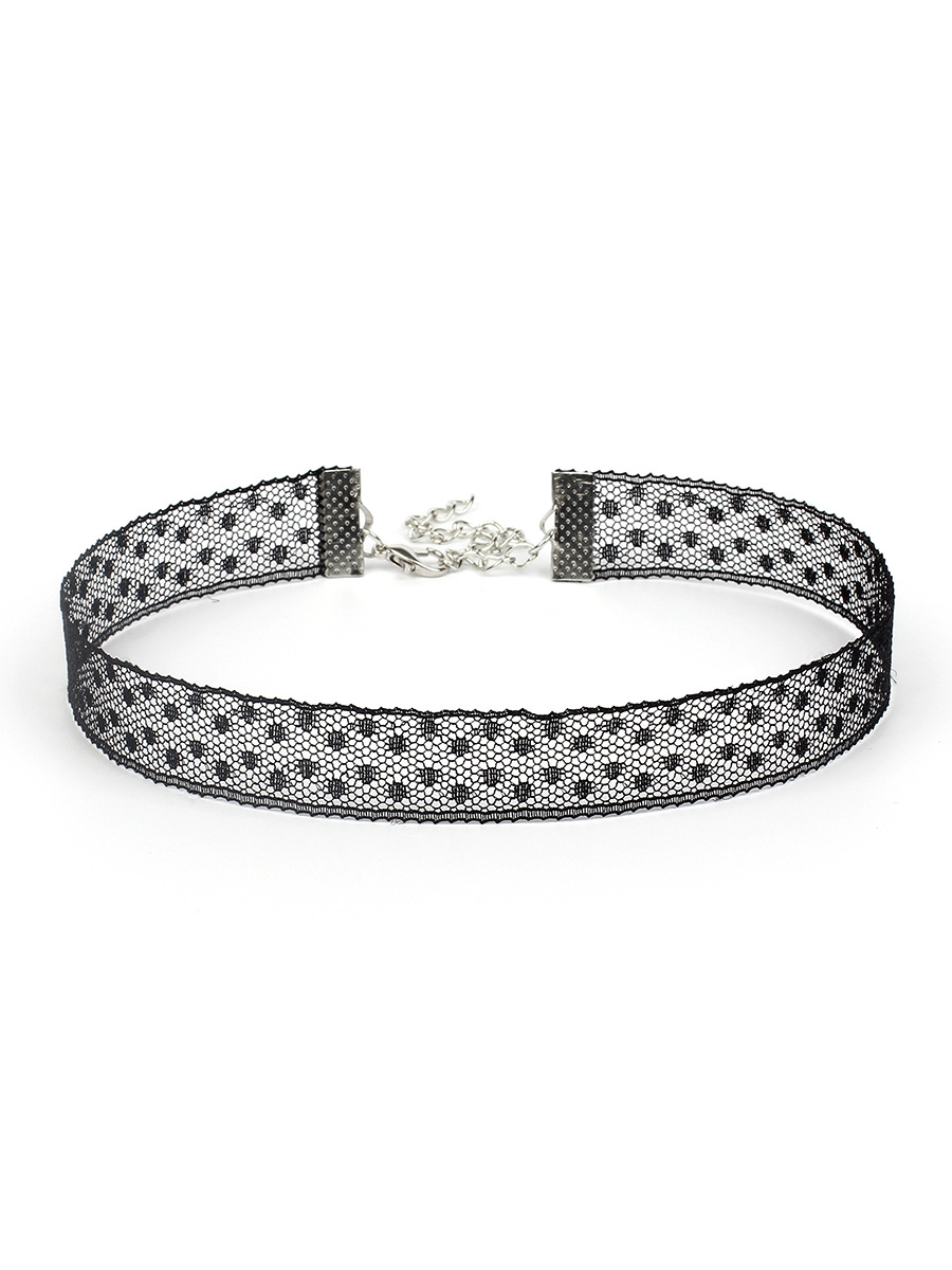 black lace choker  NHRN300111