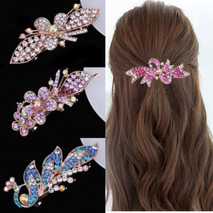 Hair clip hairpin for women girls hair accessories Small water diamond hairpin headdress Boutique Bow hairpin selling lady top clip
