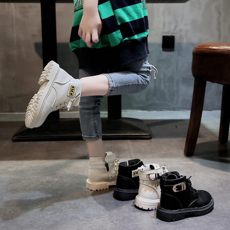 一件代發兒童馬丁靴2019秋冬新款英倫風女童靴子潮中大童短靴小童