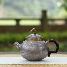s999纯银泡茶壶纯手工名师打造茶壶功夫茶具家用银器送礼银壶悟空