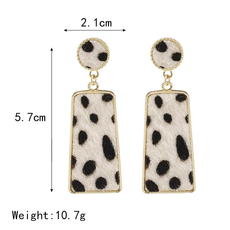 New fashion creative suede leopard geometric long earrings simple earrings NHPF173975