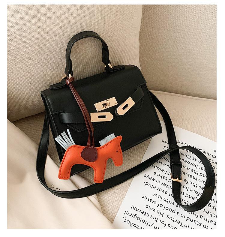 Lock handbag handbag female new Kelly bag fashion shoulder bag retro Messenger bag NHLD181097