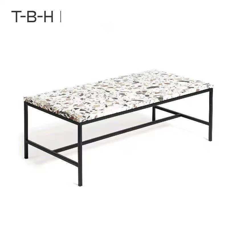 北欧现代创意小型长方形不锈钢茶几 简约板式客厅茶几批发