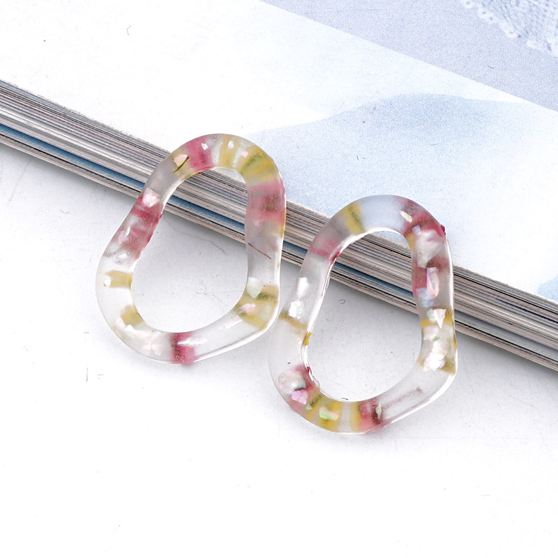 new jewelry frosted irregular transparent resin accessories handmade jewelry resin accessories imitation natural stone wholesale nihaojewelry NHGO236516