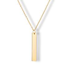 跨境热销钛钢配饰 欧美真金不锈钢项链 可个性化定制刻字保色吊坠