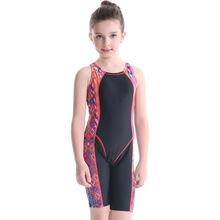 跨境专供欧美亚马逊爆款儿童长腿竞速防嗮泳衣连体学生训练冲浪服