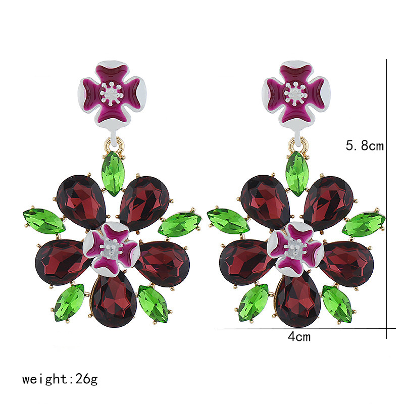 Korean fashion earrings women simple wild love flower pendant earrings wholesale NHVA186004