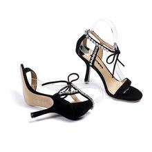 厂家直销羊绒羊皮高跟凉鞋女凉鞋2019夏季新款女鞋细跟高跟鞋